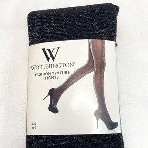 WORTHINGTON FASHION TEXTURE TIGHTS WOMENS M/L